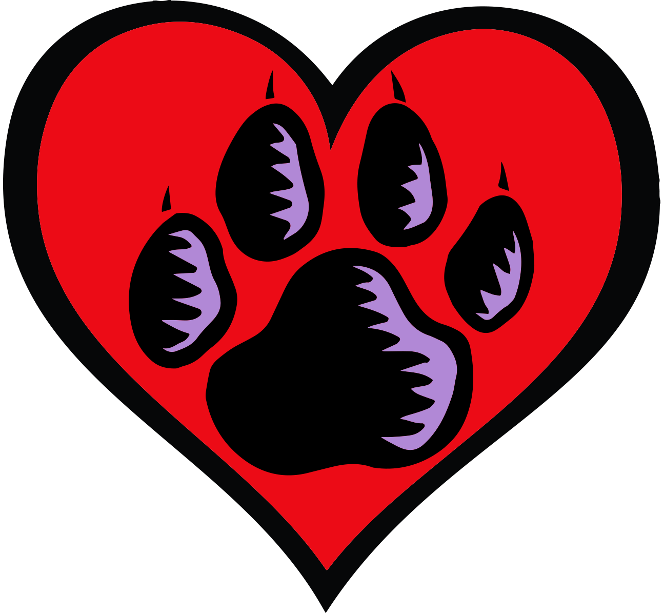 Business partners program friends. Dog paw heart png clip art black and white download