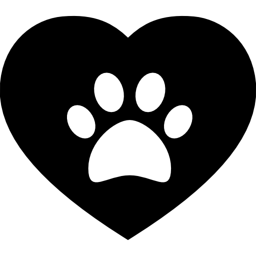Dog paw heart png. Pawprint on a free