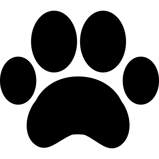 Paw print outline icons. Drawing bulldogs printable clip free library
