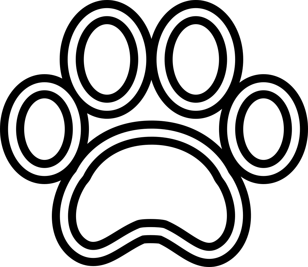 Pawprint svg outline. Dog paw print png