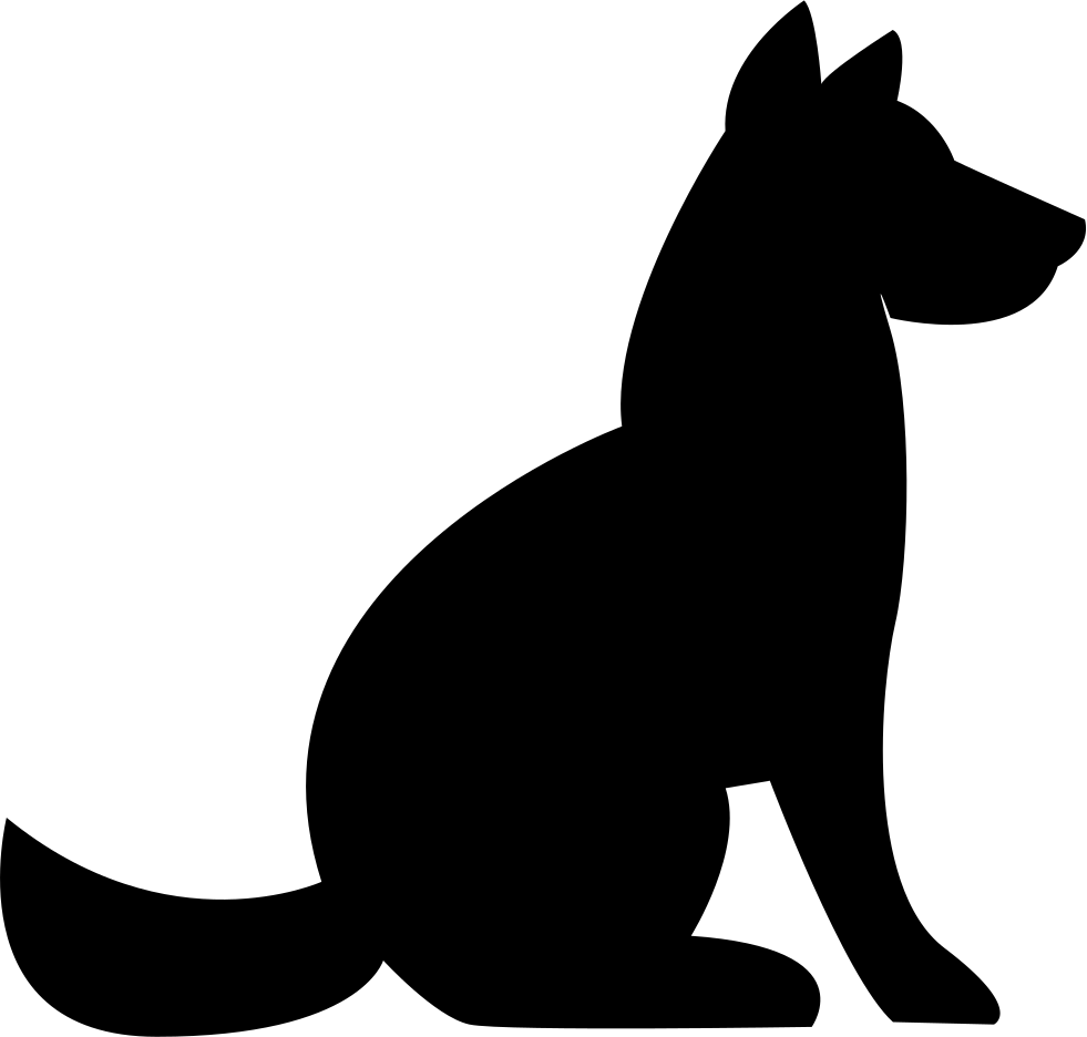 Dog png icon. Side svg free download