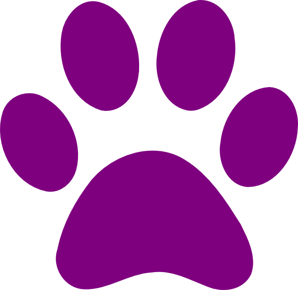 Purple panther png. Paw print clip art