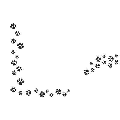Dog prints png. Line of paw transparent