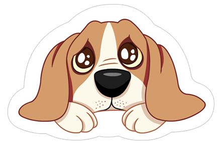 Dog sticker png. A s world new