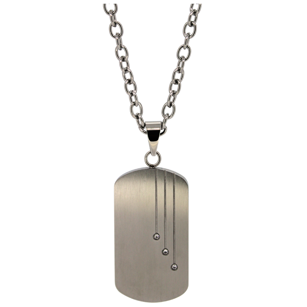 Dog tags png. Stainless steel cubic zirconia