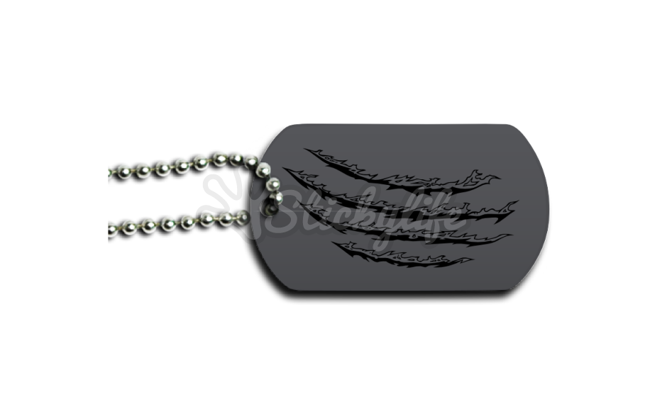 Dog tags png. Wolverine tag design and