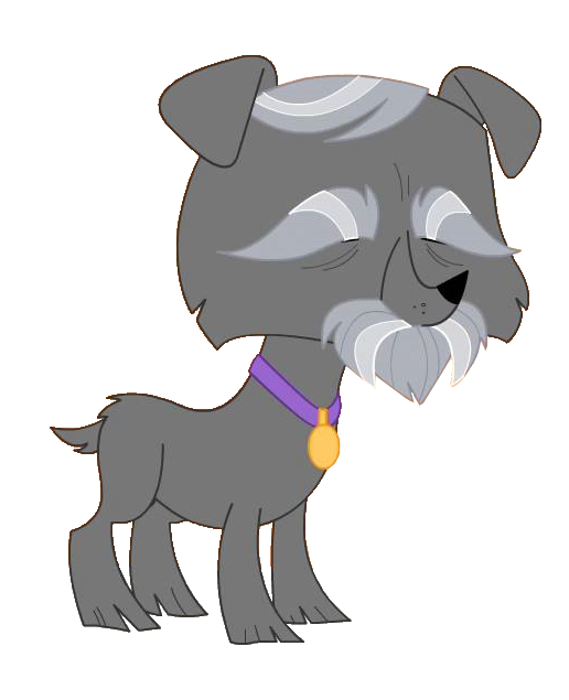Lps old dog by. Schnauzer vector vector royalty free