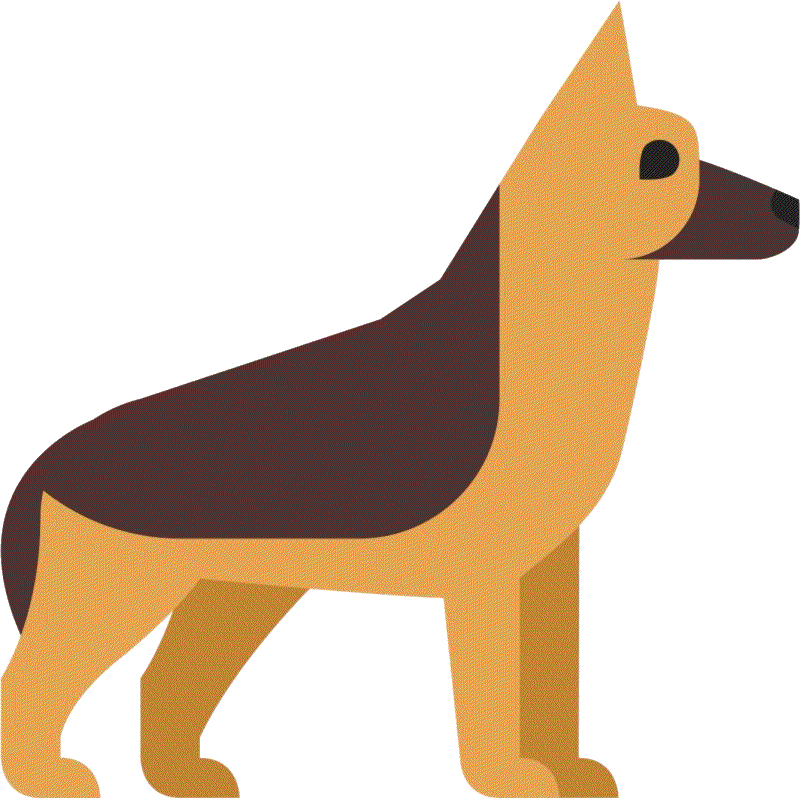 Dog withers. German shepherd png