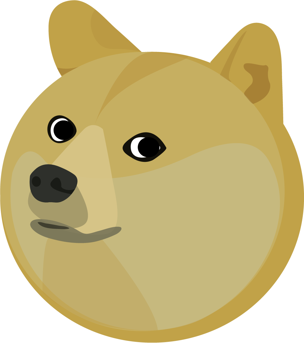 Doge face png. Transparent images all head