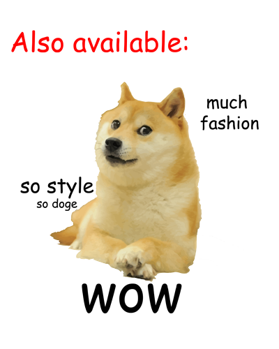 Doge wow png. Christmas stickers by flashman