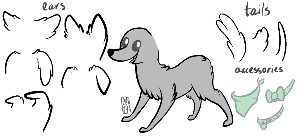 Drawing accessory dog. Mlp fim base by