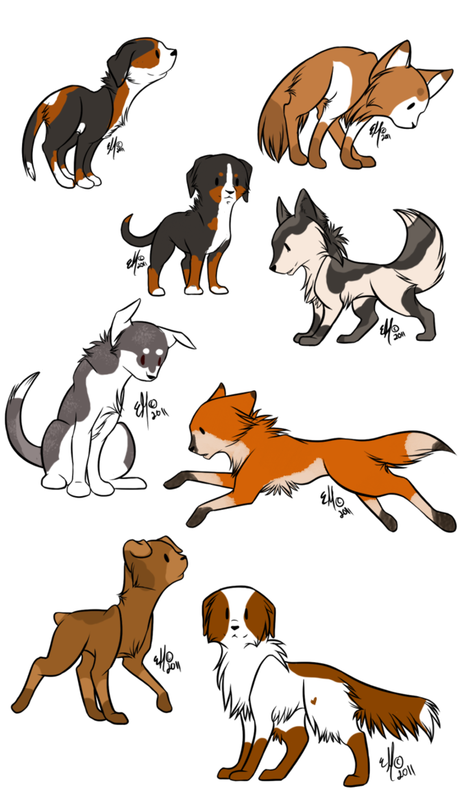 Doggy drawing anime. Deviantart dog chibi adopts