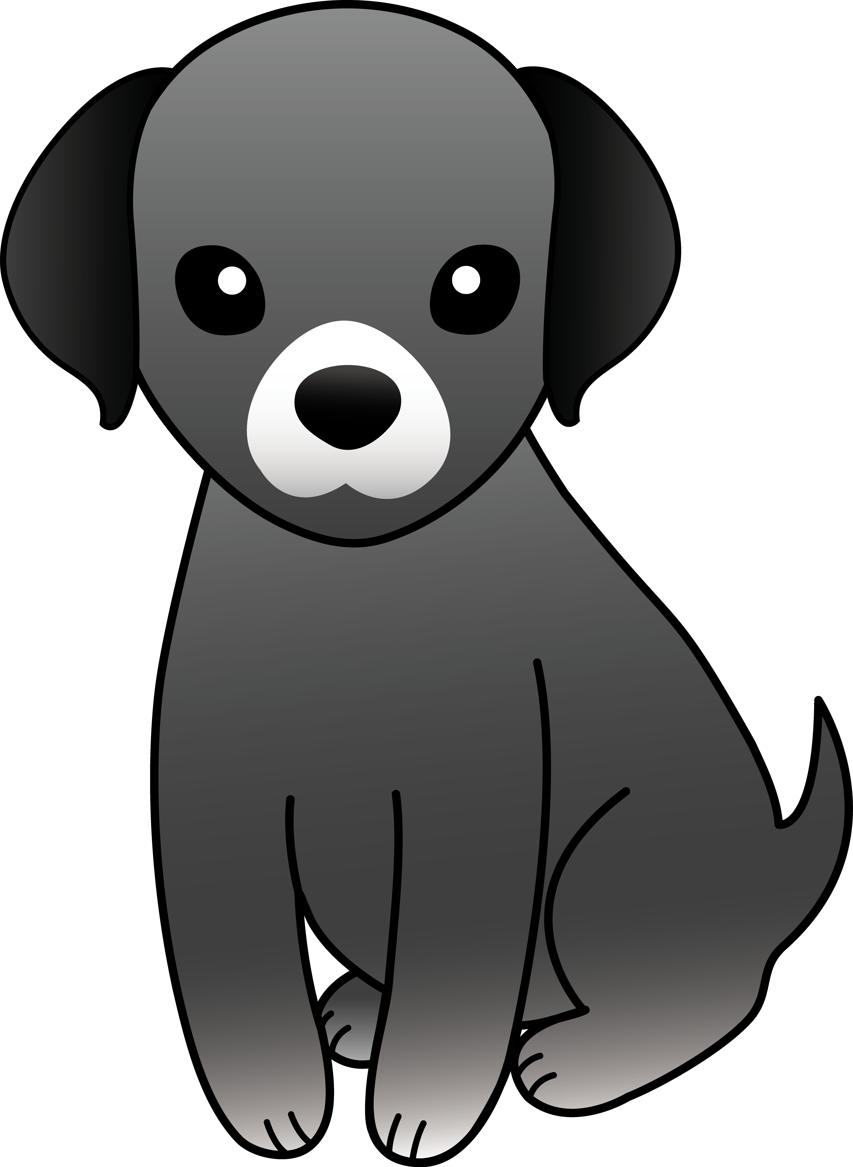 Puppy clipart homely design. Doggy drawing artistic clipart transparent library