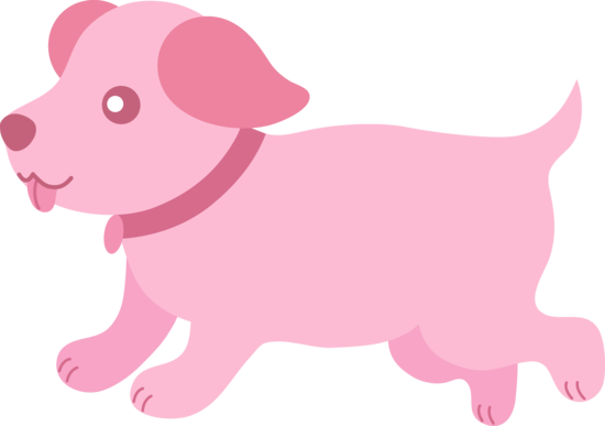 Cute pink puppy running. Doggy drawing baby dog clipart freeuse download