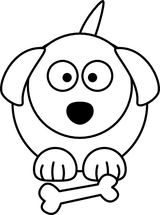 Doggy drawing cartoon. Clipart dog black