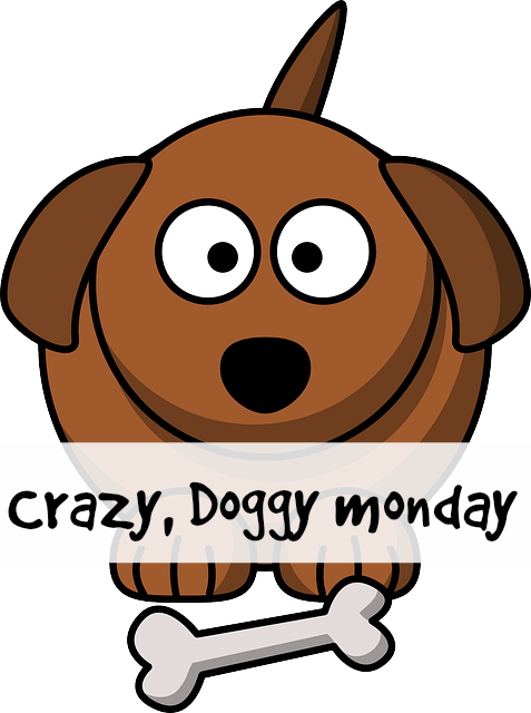 Doggy drawing don. Crazy monday pet lovers
