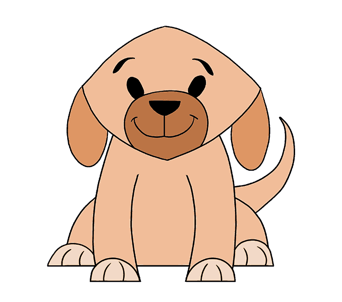 Doggy drawing easy. Of a dog at