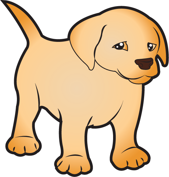 Doggy drawing lab dog. Puppy clipart royalty