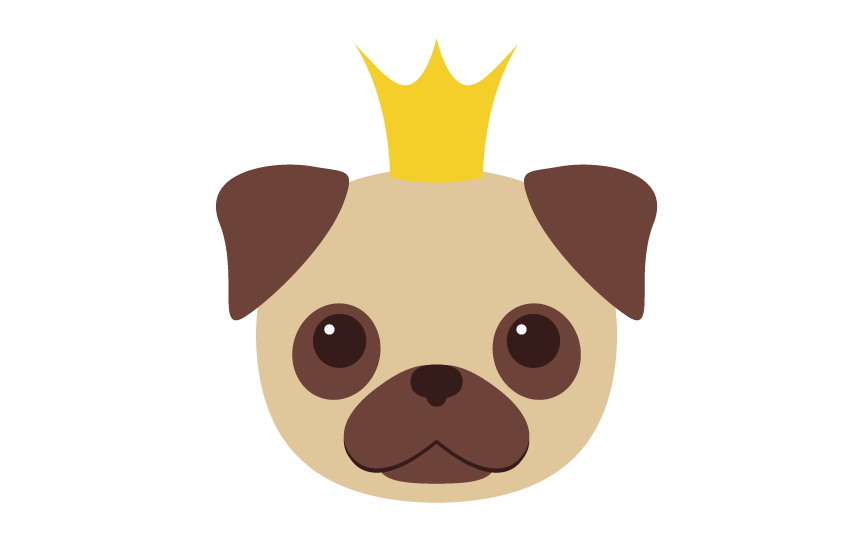 Doggy drawing pug. How to create mini