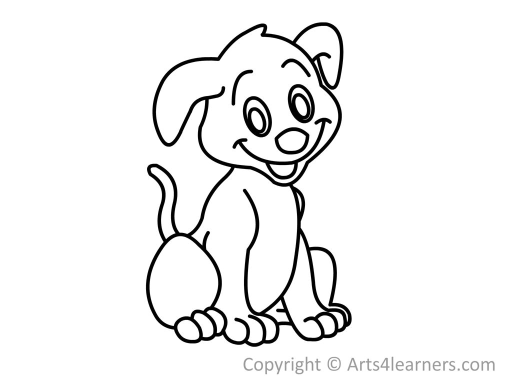 Doggy drawing puppy. Collection of dog