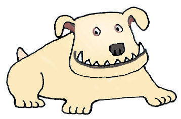 Doggy drawing sad. Easy dog clipart at