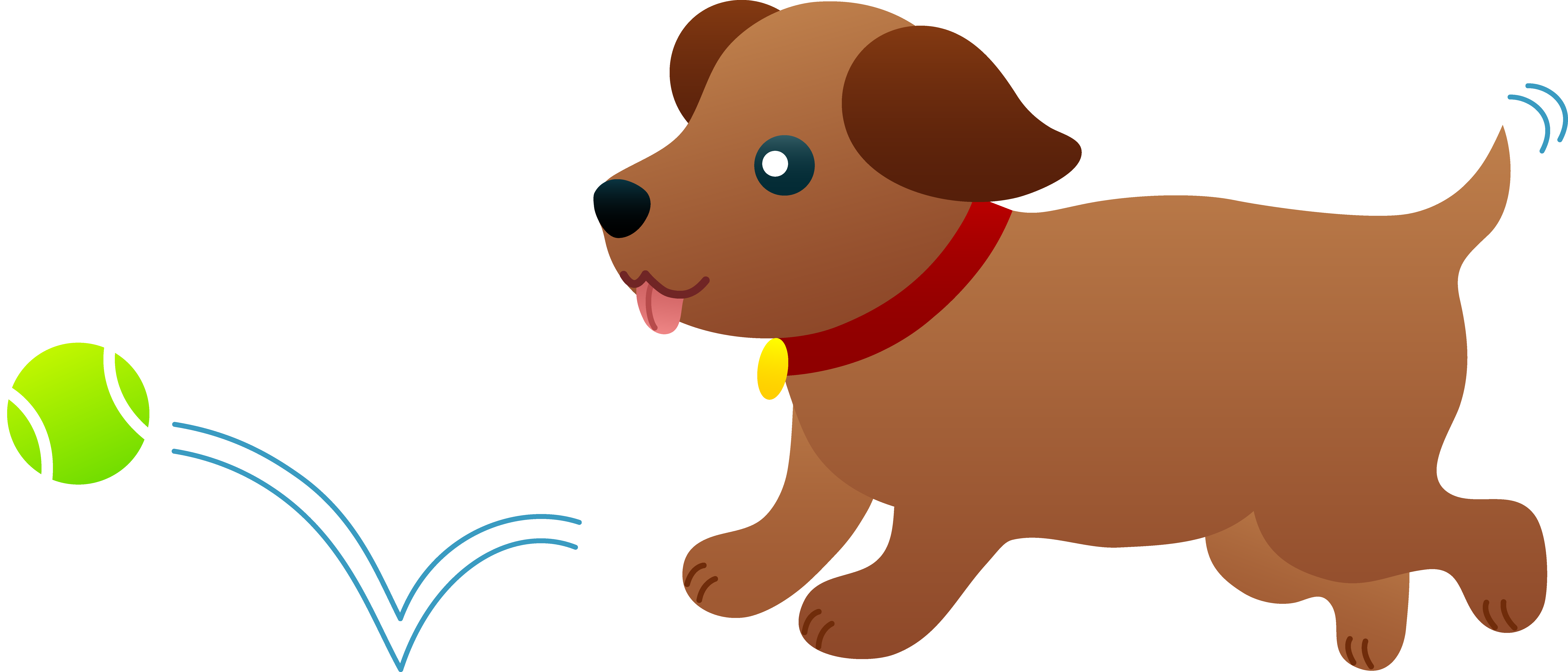 Puppy chasing after ball. Catcher clipart dog svg freeuse stock