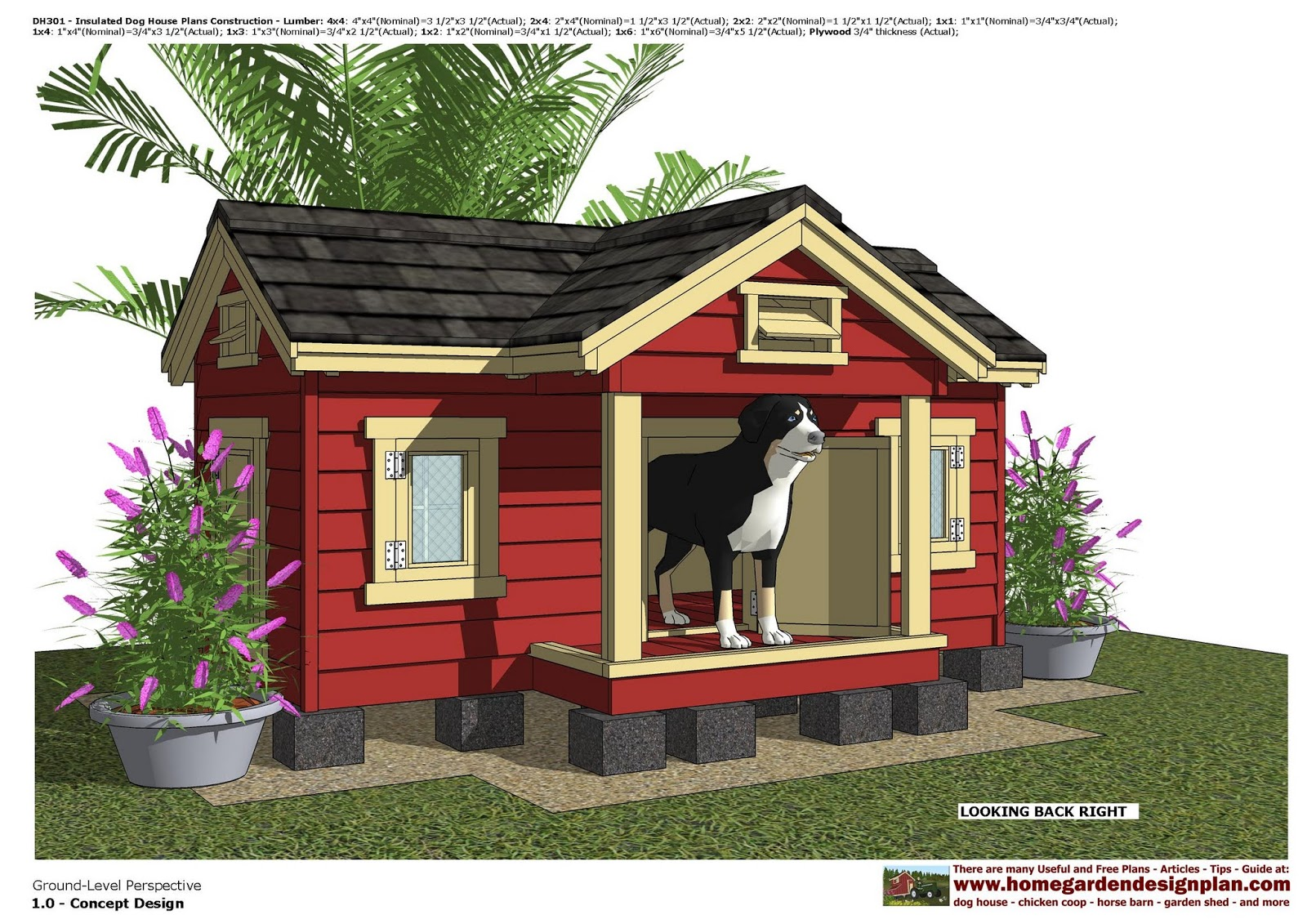 Doghouse clipart chicken house. Dh insulated dog plans