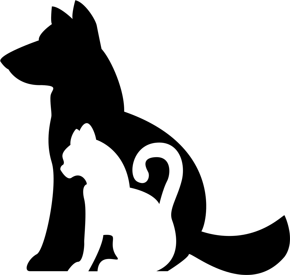 Dogs and cats clip art png. Dog cat silhouette free