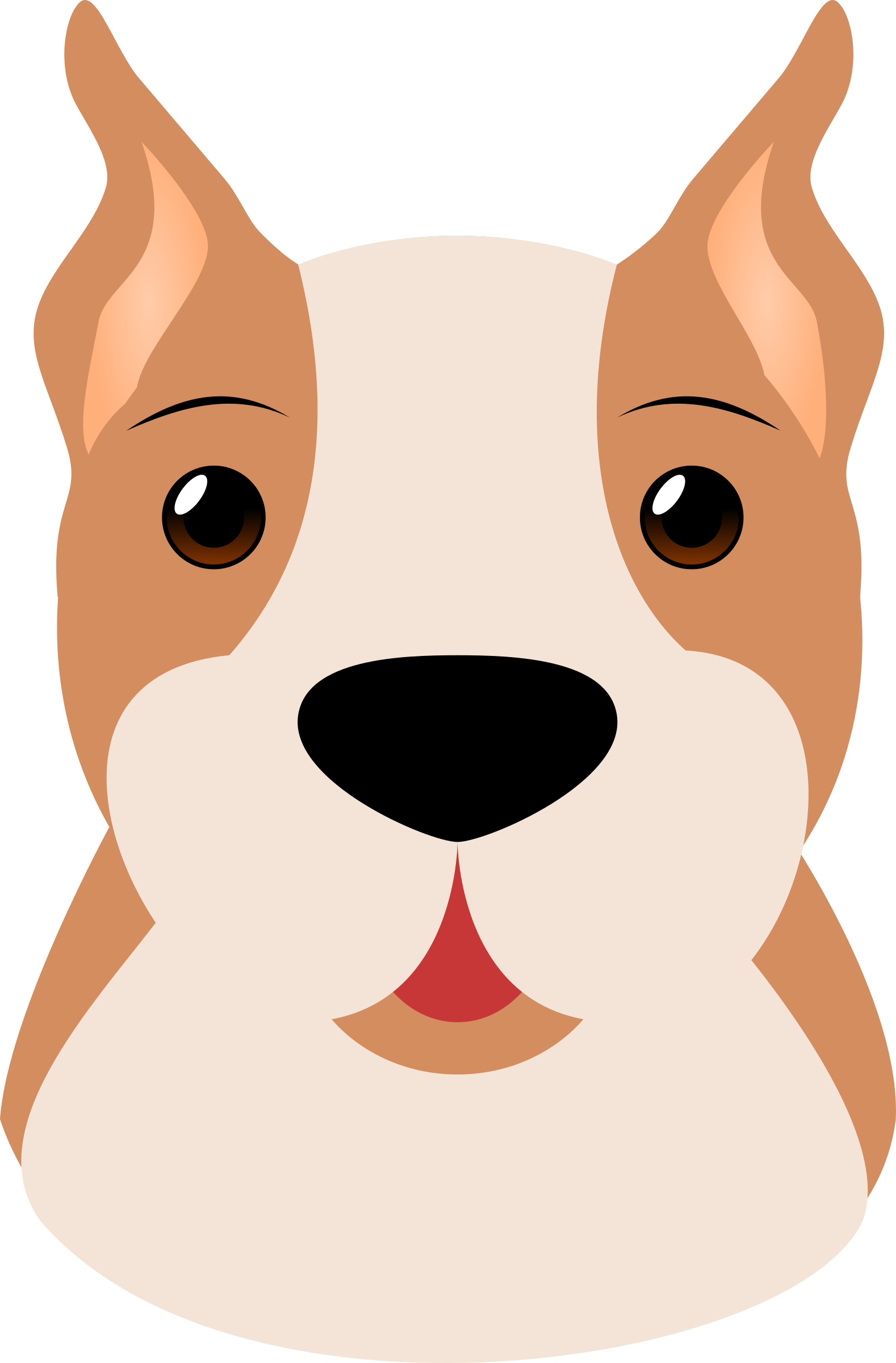 Dogs vector pet dog. Boxer by maw animals