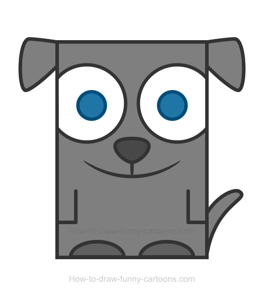 Square clipart drawing. Dog how to draw
