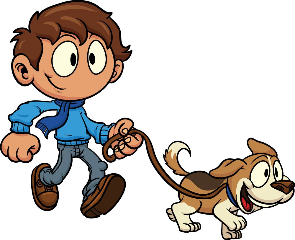 Dogs clipart person. Walking dog clipartfest welcome