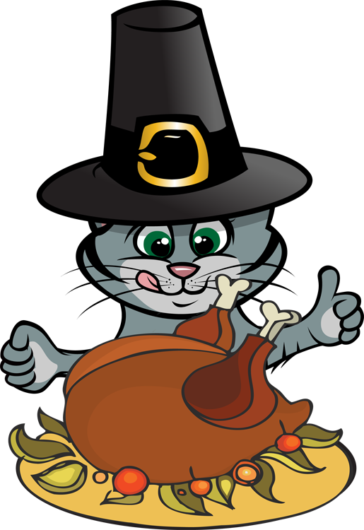 Dogs clipart thanksgiving. Cat and dog free