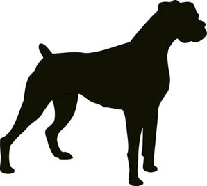 Pug clipart pin the tail on. Boxer silhouette clip art