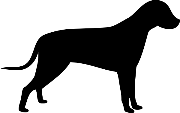 Dogs vector canine. Dog outline silhouette clipart
