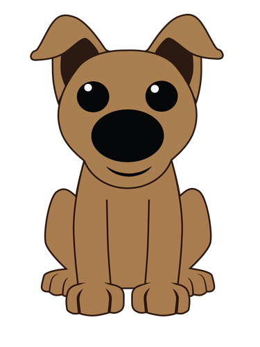 Dogs vector cartoonish. Fetch a golden retriever