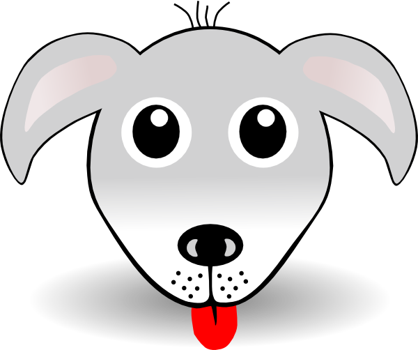 Dogs vector cartoonish. Dog face clip art