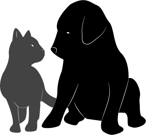 Dogs vector cat's. Dog and cat adoption