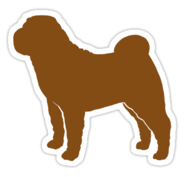 Dogs vector chesapeake bay retriever. Chinese shar pei silhouette