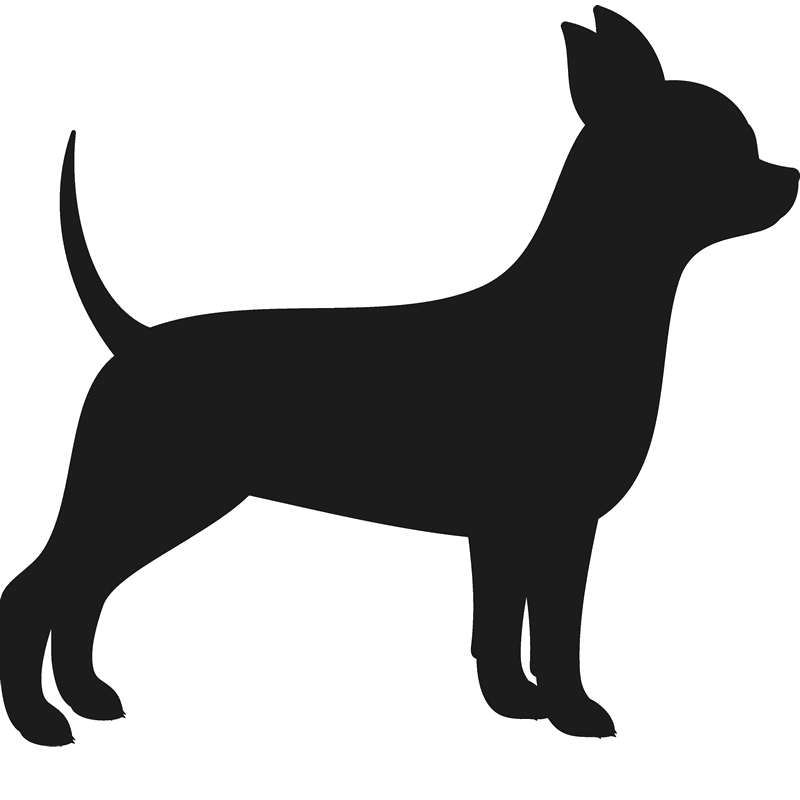 Dogs vector chihuahua. Dog silhouette at getdrawings