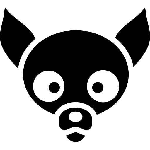 Dogs vector chihuahua. Dog face icons free