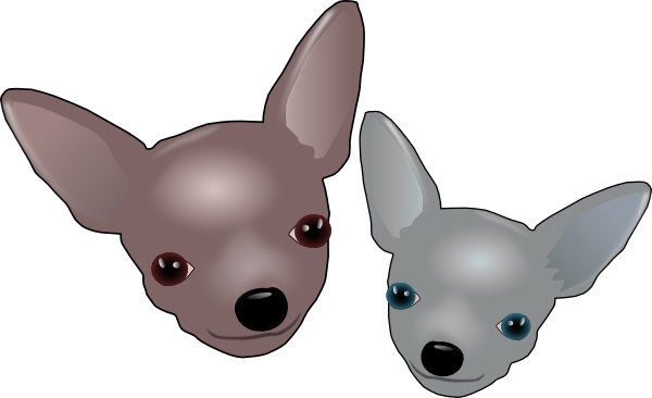 Dogs vector chihuahua. Two chihuahuas clip art