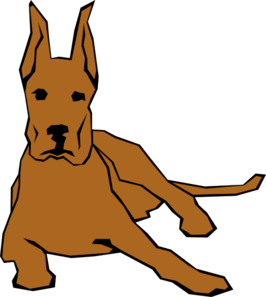 Dogs vector color. Resting dog in clip