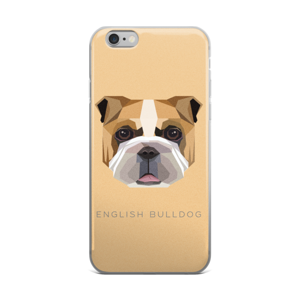 Dogs vector geometric. English bulldog iphone case