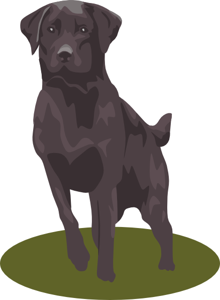 Dogs vector group. Black lab clip art
