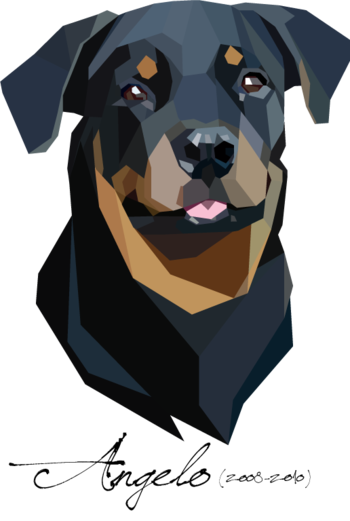 Dogs vector low poly. Pop pets by eunike