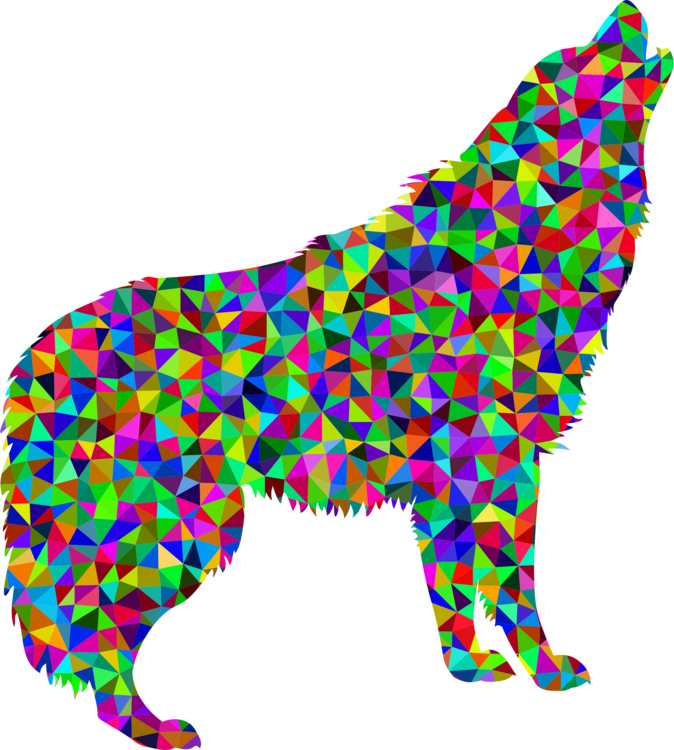 Dogs vector polygon. Low poly dog canidae