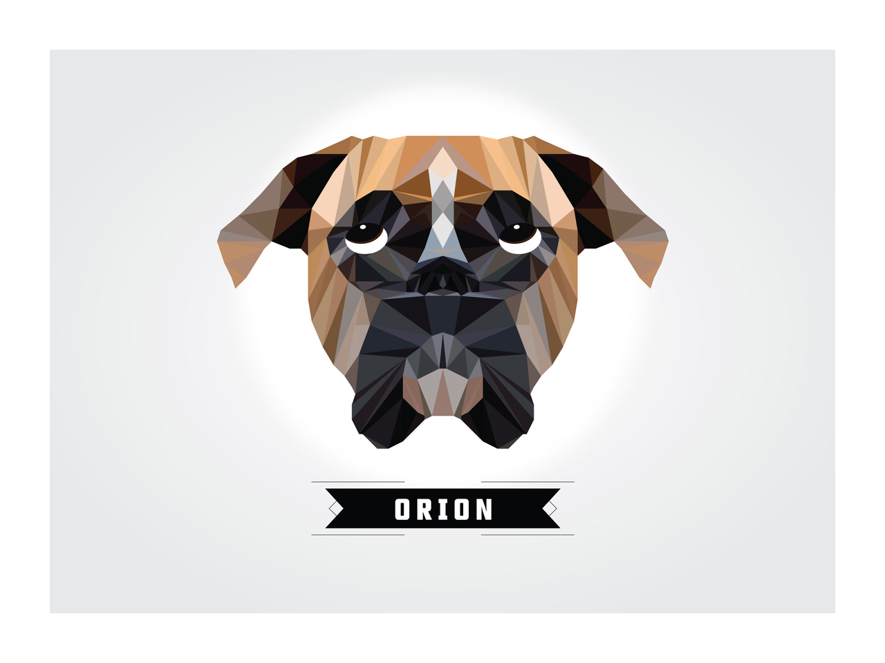 Dogs vector polygon. How to create a