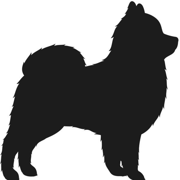 Dogs vector pomeranian. Silhouette at getdrawings com