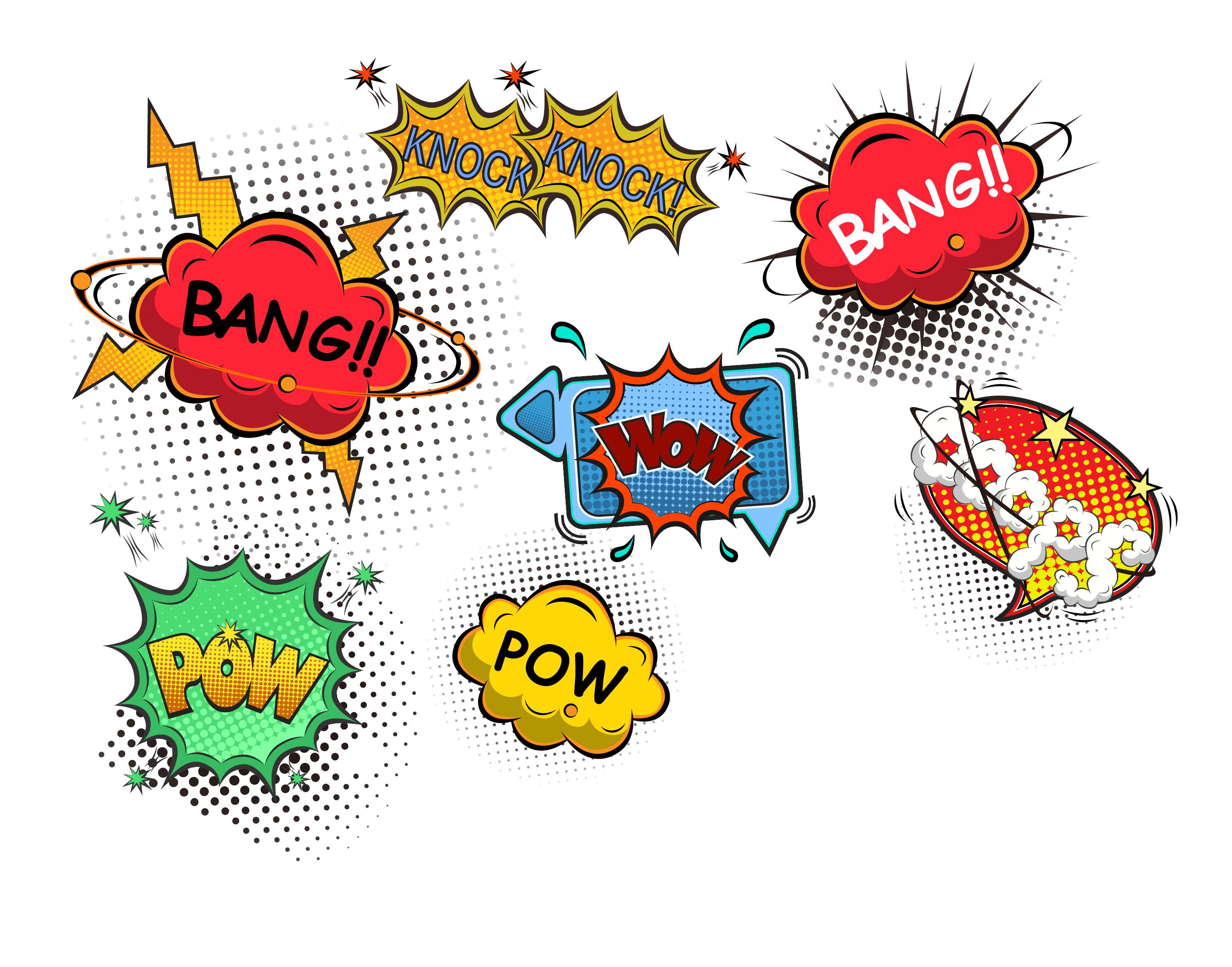 Dogs vector pow. Explosion label transprent png