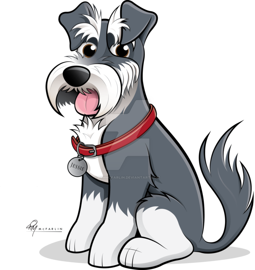 Dogs vector schnauzer. Caricature coloured by timmcfarlin